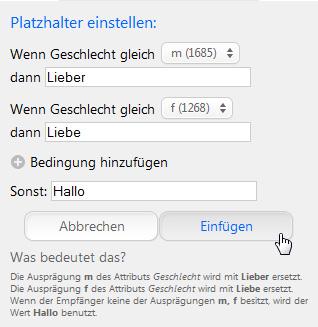 Personalisierte Emails, personalisierte SMS