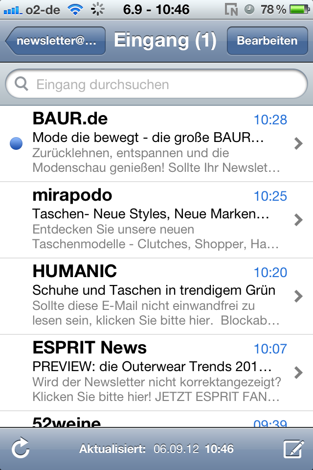 iPhone Inbox