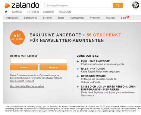 Newsletter Anmeldeformular