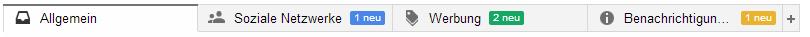 Werbe-Tab Google Mail