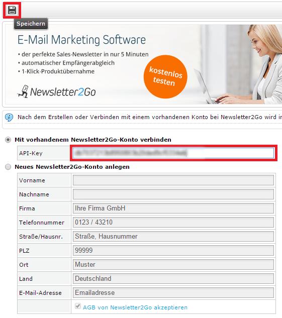 plentymarkets Schnittstelle einrichten - API-Key eintragen