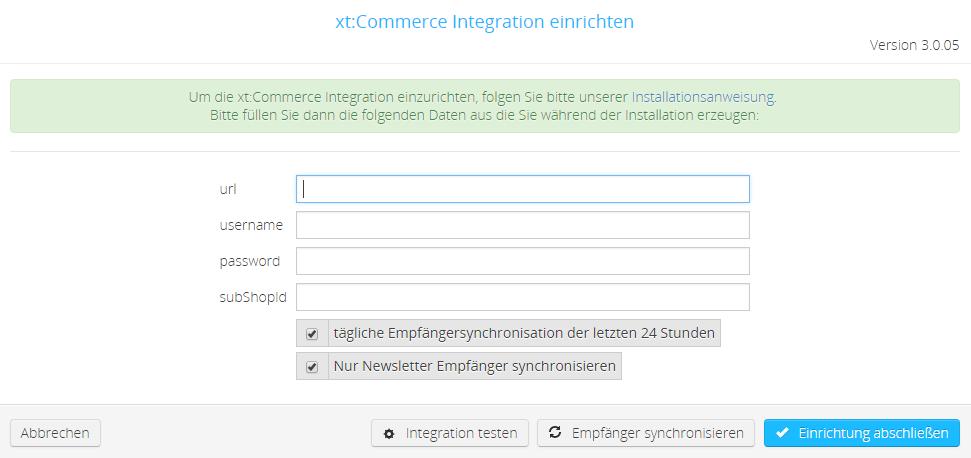 xt_commerce_einrichten