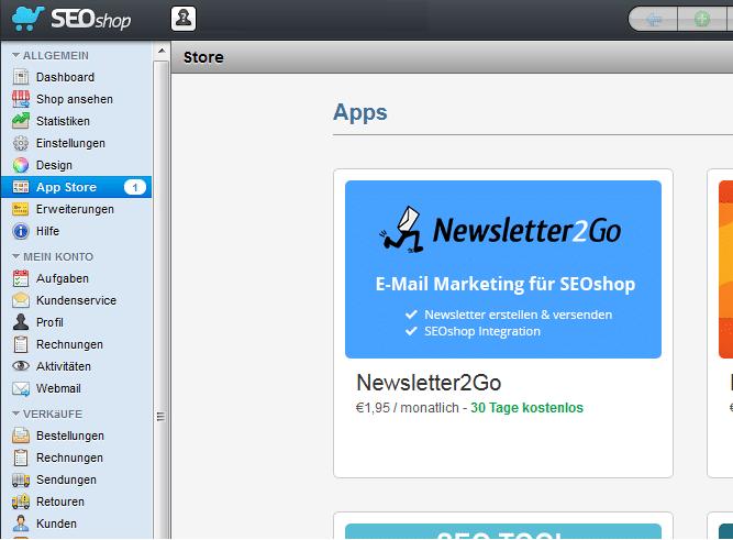 SEOshop App installieren