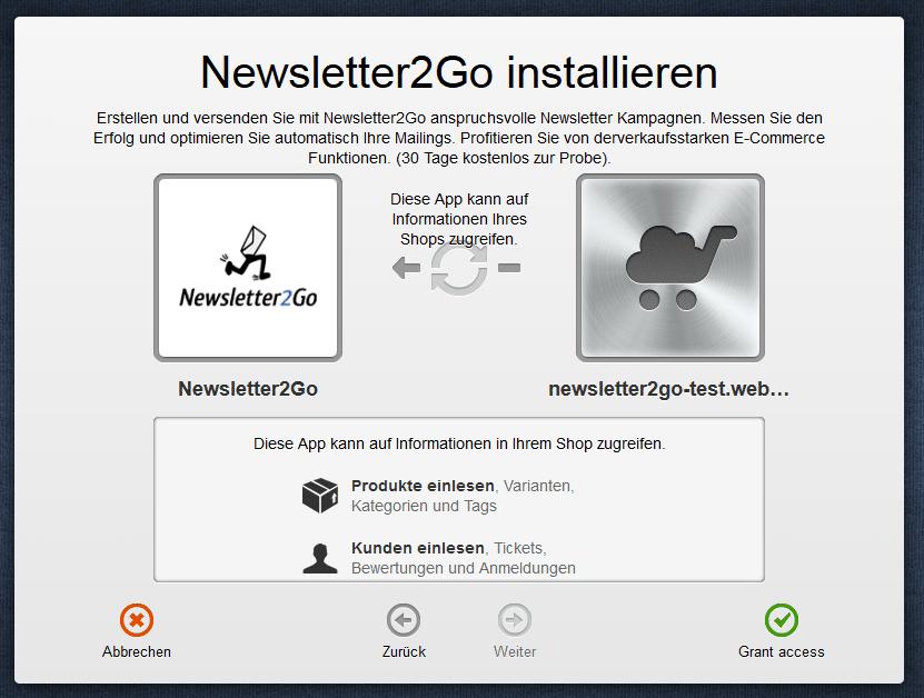 SEOshop App installieren Step 2
