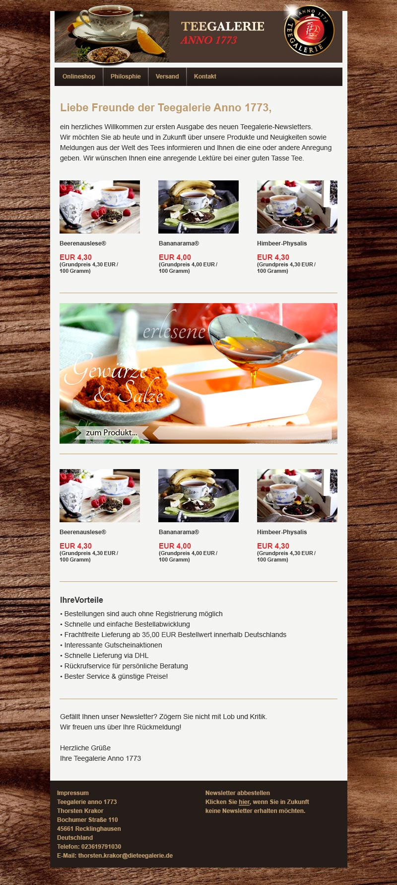 newsletter template examples newsletter2go