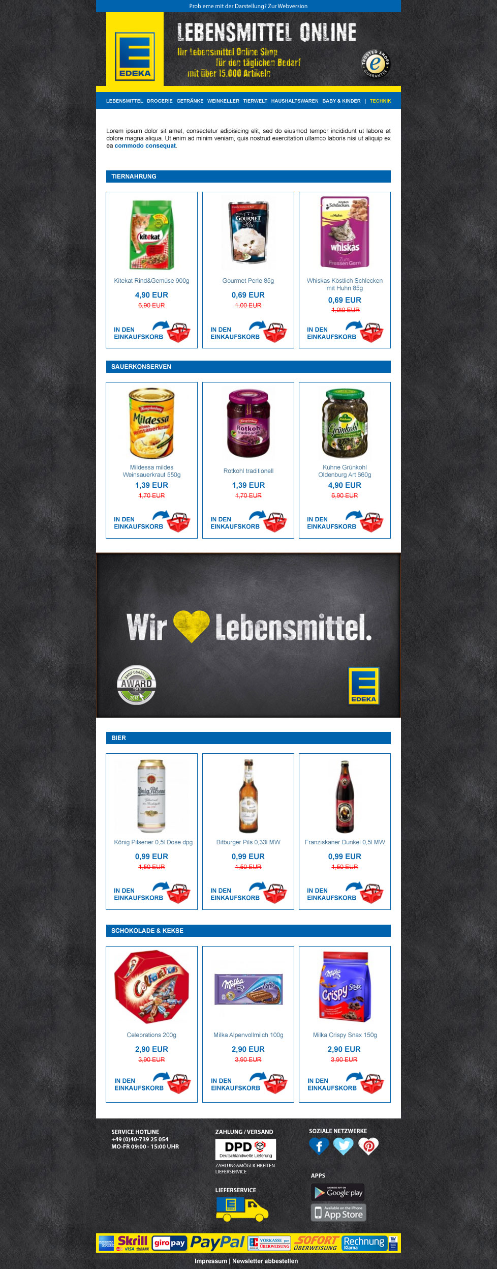 Edeka Newsletter Desktop Version  Example Of Newsletter Templates