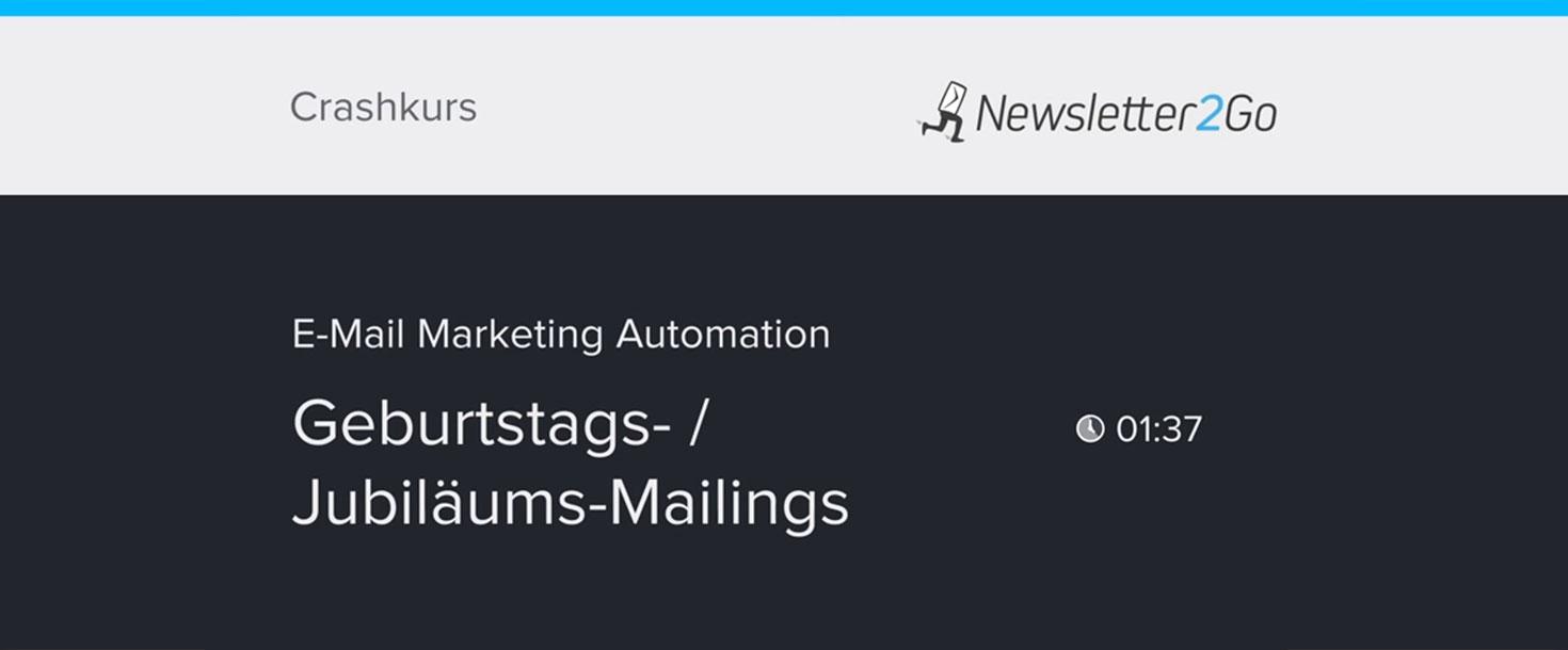 E-Mail Marketing Automation Geburtstags-Mailing