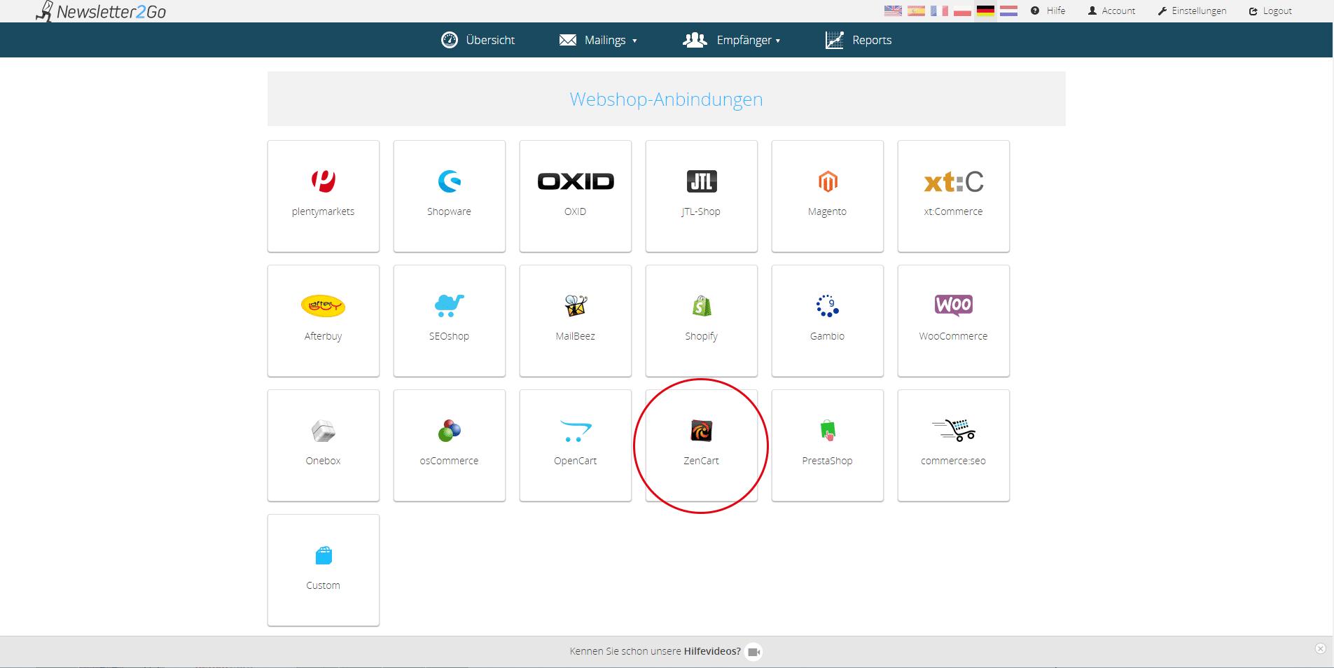 Wie richte ich das ZenCart Newsletter Plugin ein?