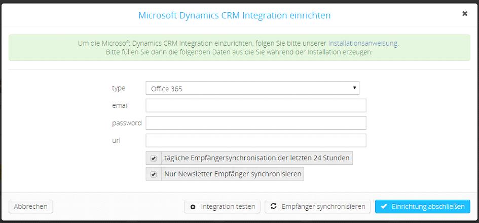 microsoft dynamics crm installation