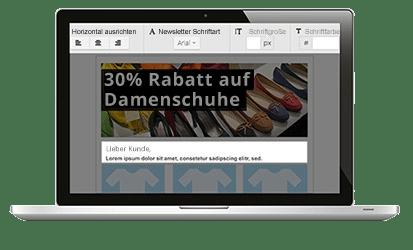 Newsletter erstellen im Baukasten-Editor