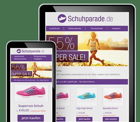 Newsletter Software mit Responsive Design Vorlagen