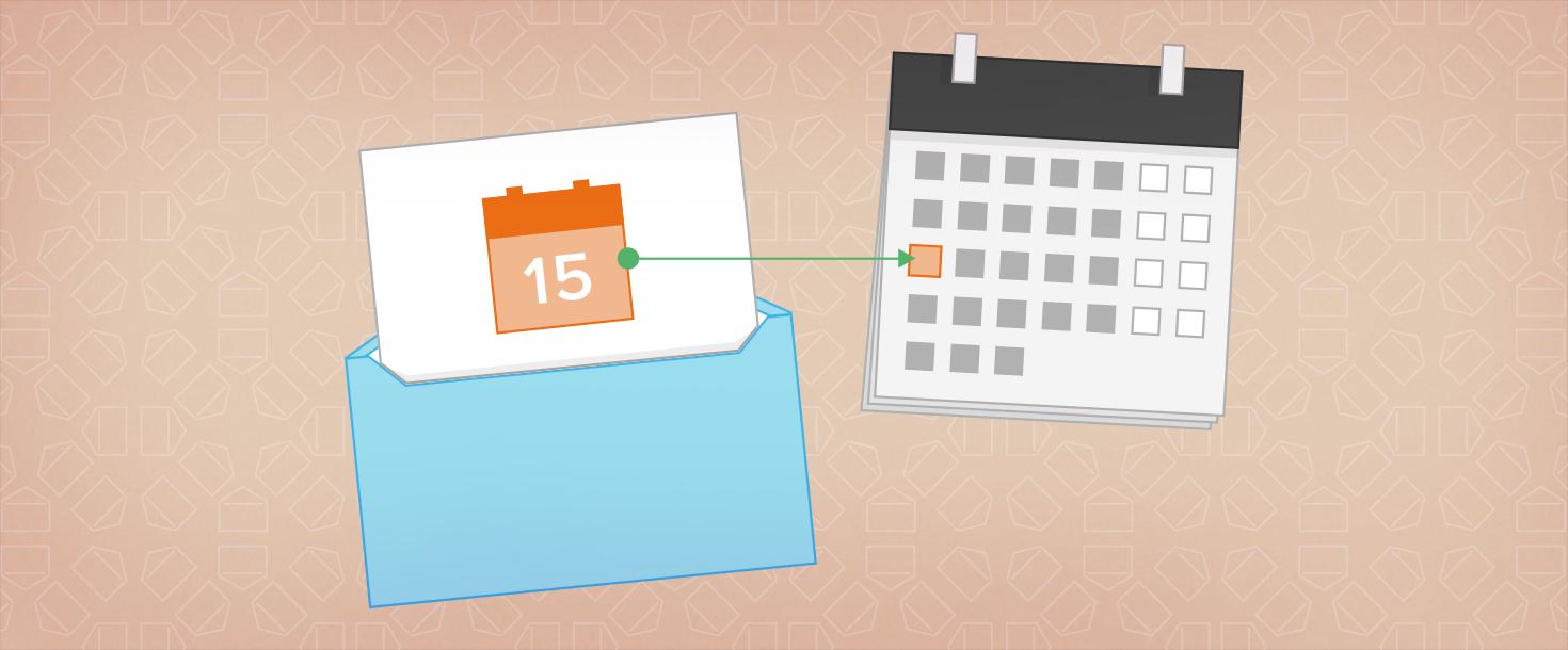 Kalender-Termine versenden