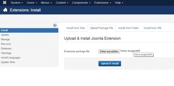 Joomla Newsletter Modul hochladen