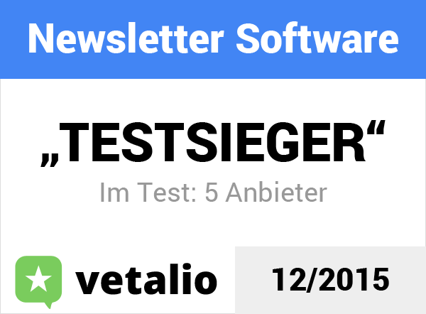 vetalio Siegel Newsletter Software Testsieger Newsletter2Go
