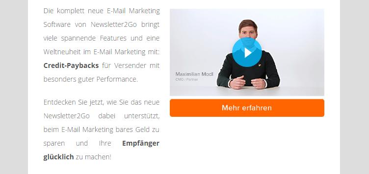 Beispiel_statisches Bild Videos im E-Mail Marketing