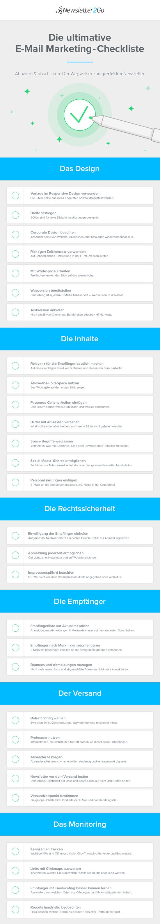 E-Mail Marketing Checkliste