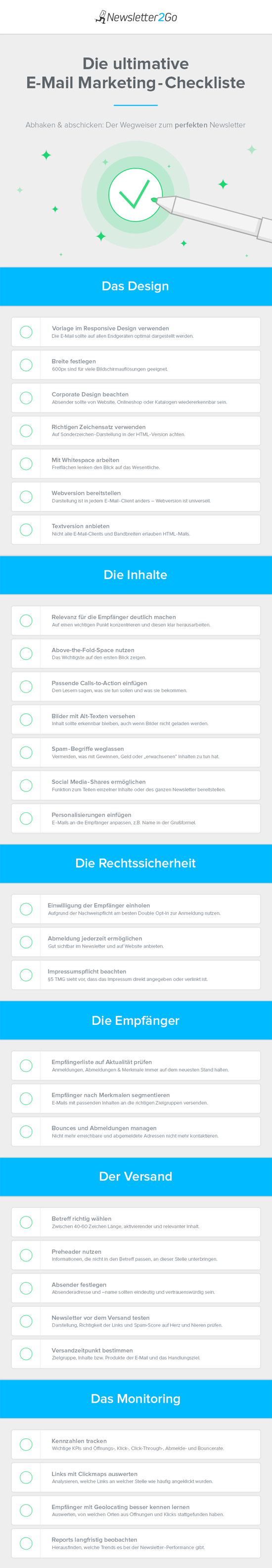 E-Mail Marketing Checkliste