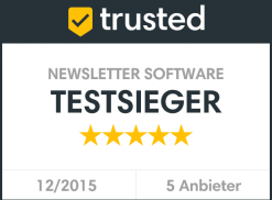 trusted Siegel Newsletter Software Testsieger Newsletter2Go