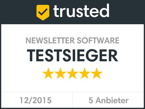 trusted Siegel Newsletter Software Testsieger Newsletter2Go
