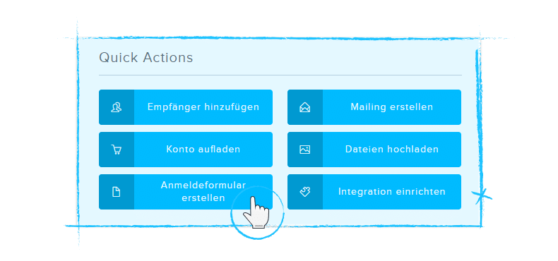 Quick Actions Newsletter Software