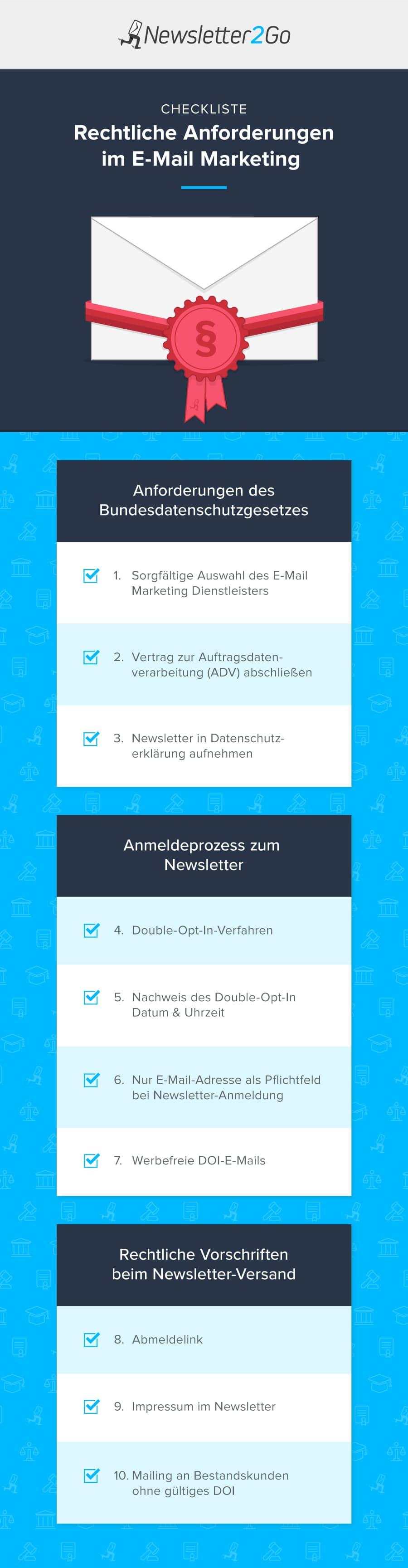 Newsletter Datenschutz Checkliste