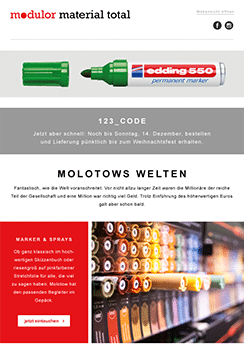 Template Modulor Beispiel - Newsletter2Go