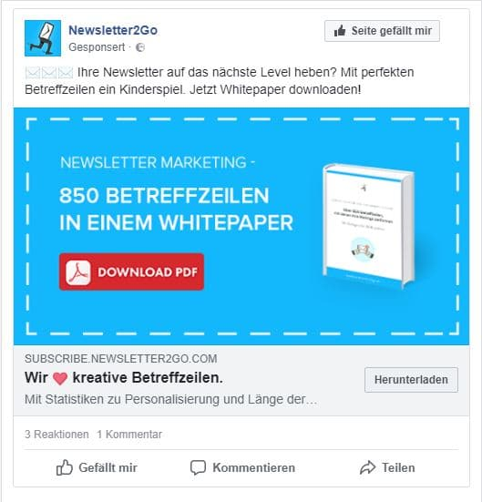 facebook_ad_newsletter2Go