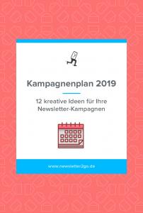 Kampagnenplan 2019 - Newsletter2Go