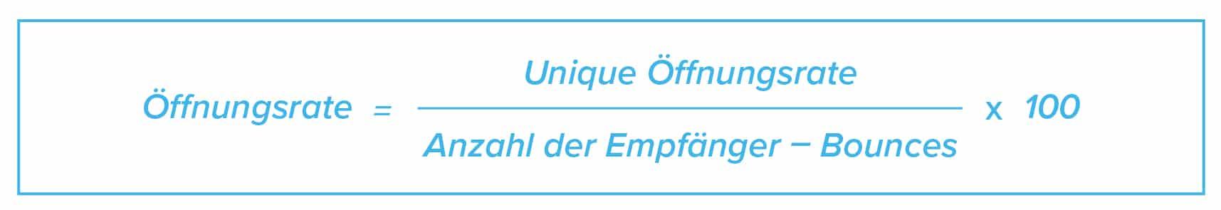 E-Mail Marketing KPIs Formel Öffnungsrate