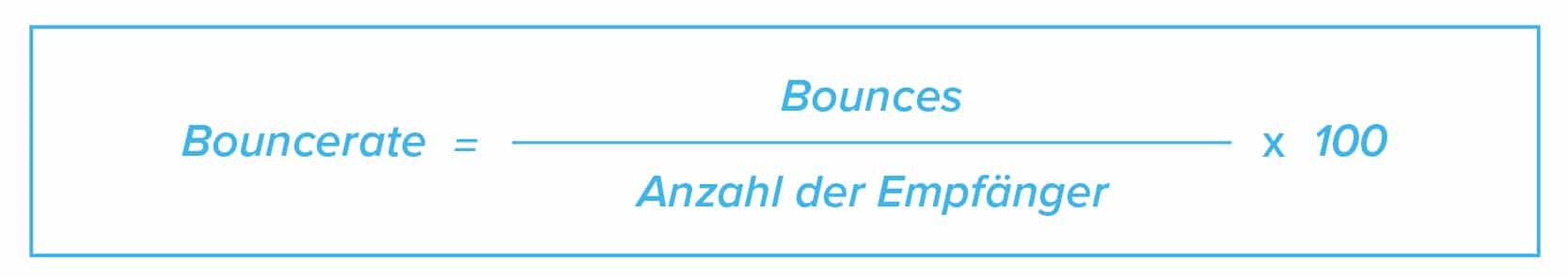 E-Mail Marketing KPIs Formel Bouncerate
