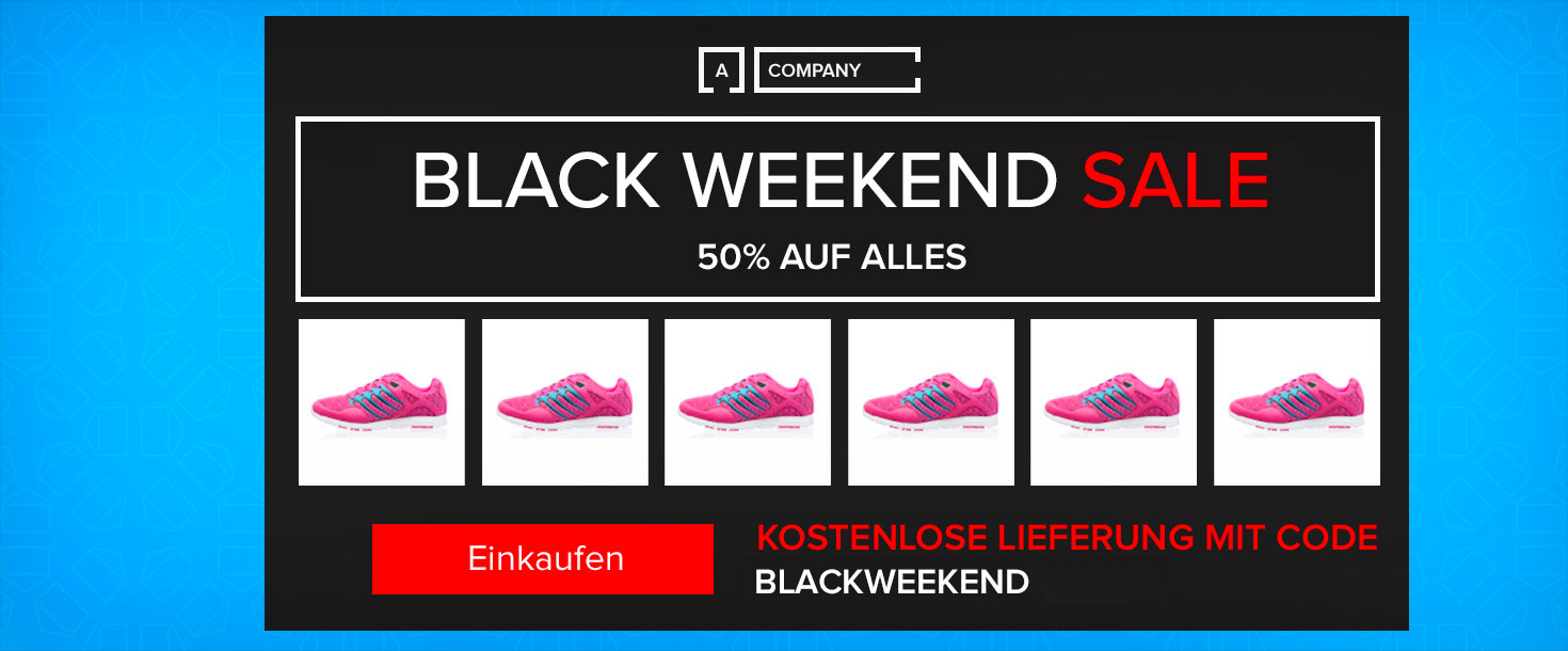 Black Weekend Sale Headerbild